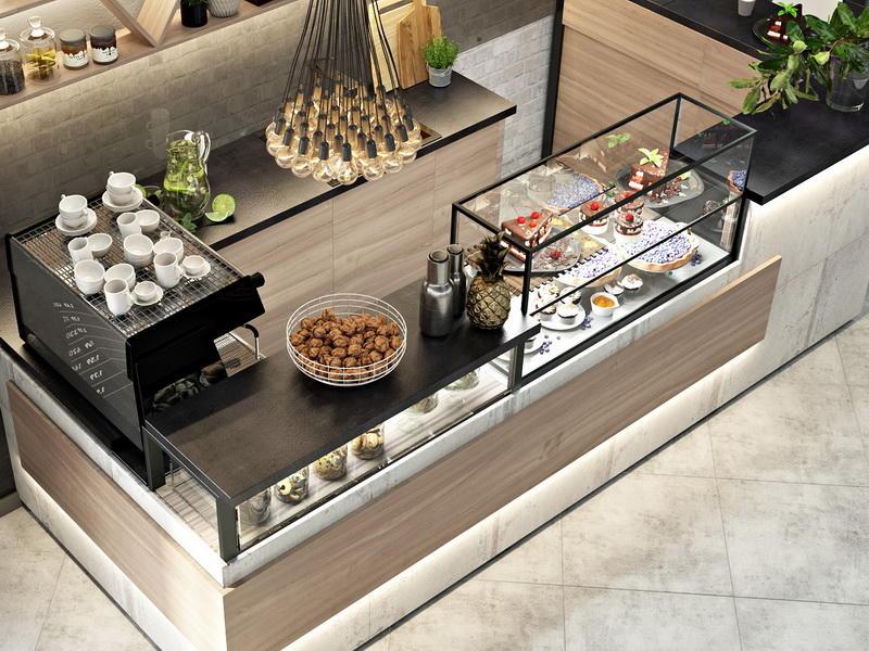 Coffee Shop Counter OY-CSD017