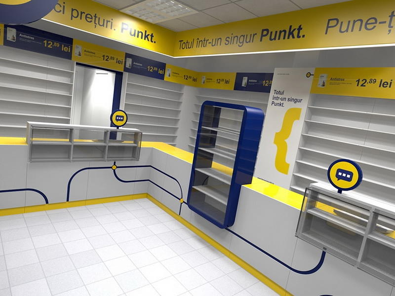 Interior Design for Medicine Retail Shop OY-PSD019