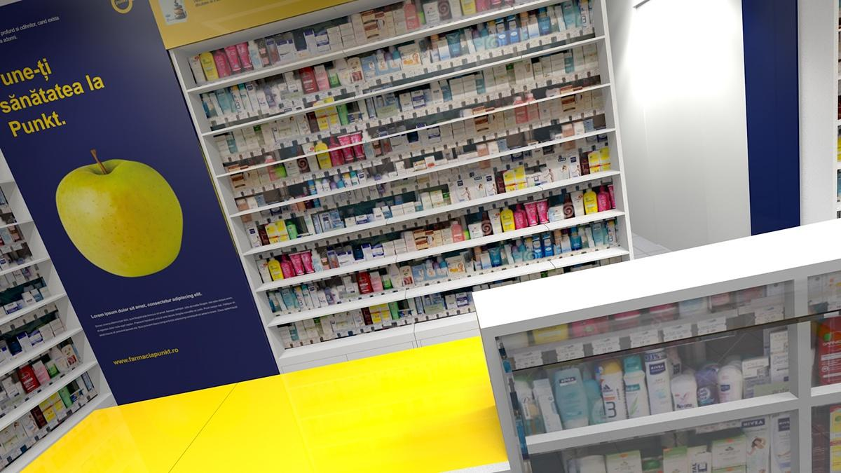 counter decoration drugstore OUYEE Brand pharmacy counter supplier