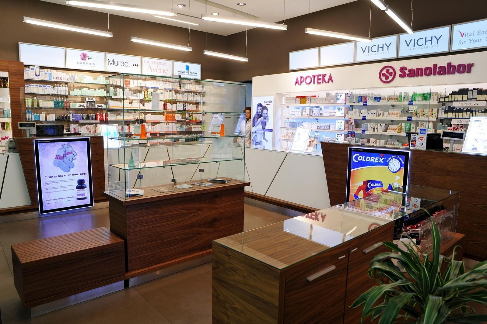commercial pharmacy display racks fast installation for store OUYEE