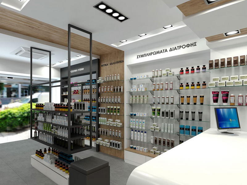 Store Furniture Pharmacy Counter Design OY-PSD022