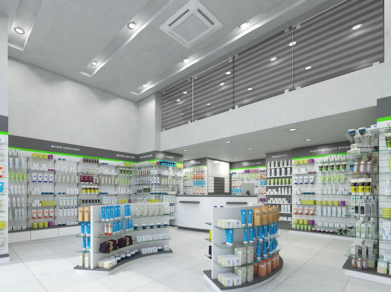 Pharmacy Shop Interior Furniture Design OY-PSD023