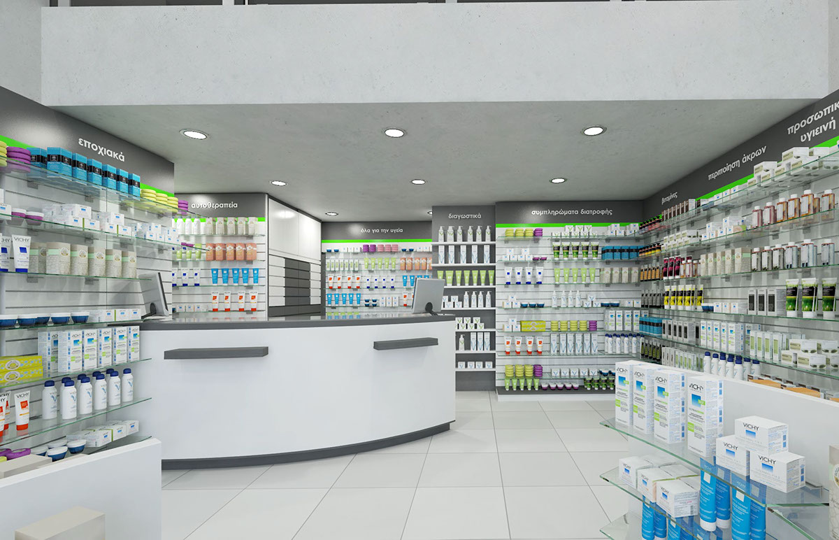 OUYEE modern medical shop counter fast delivery for shop-5