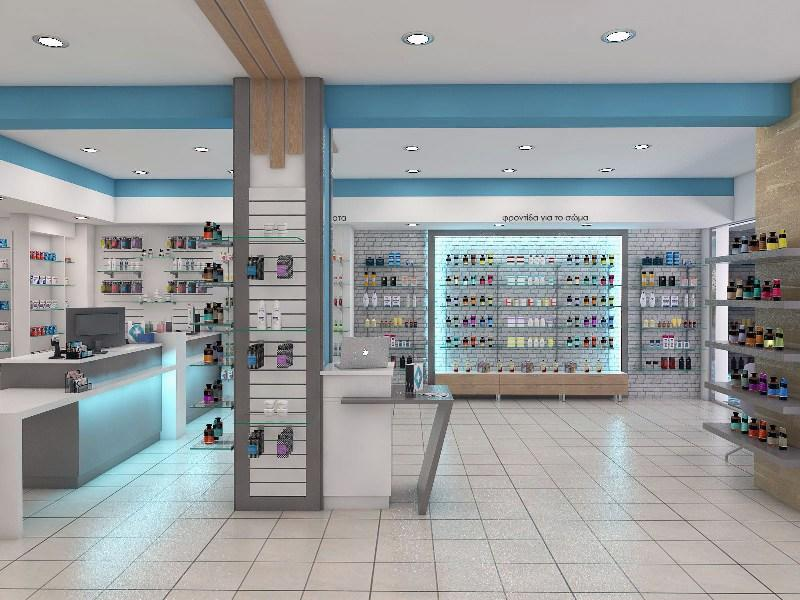 pharmacy counter design medical furniture shelving OUYEE Brand company