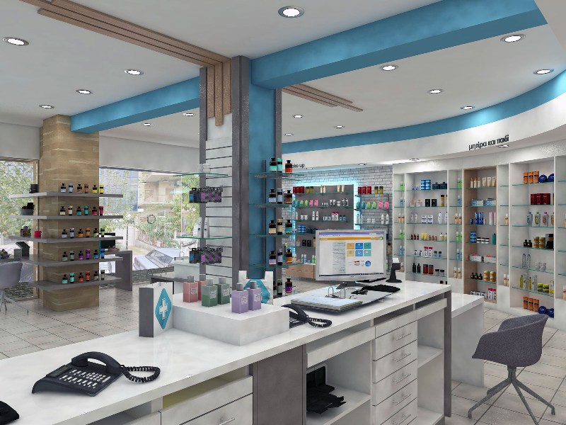 OUYEE durable retail pharmacy design modern for store-4