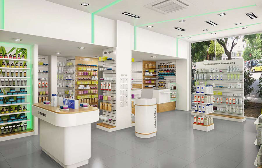 newest pharmacy shelving design fast installation for hospital OUYEE-5