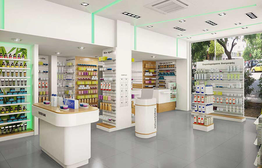 newest pharmacy shelving design fast installation for hospital OUYEE