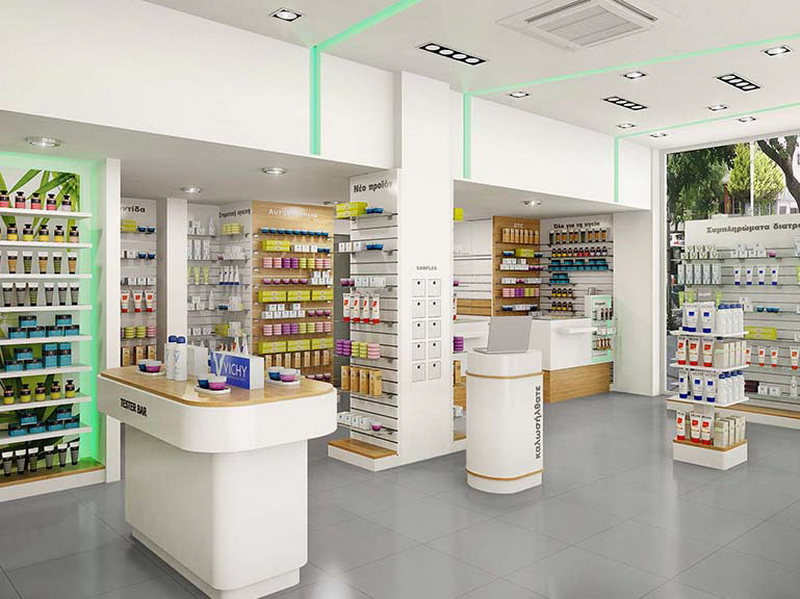 newest pharmacy shelving design fast installation for hospital OUYEE-6