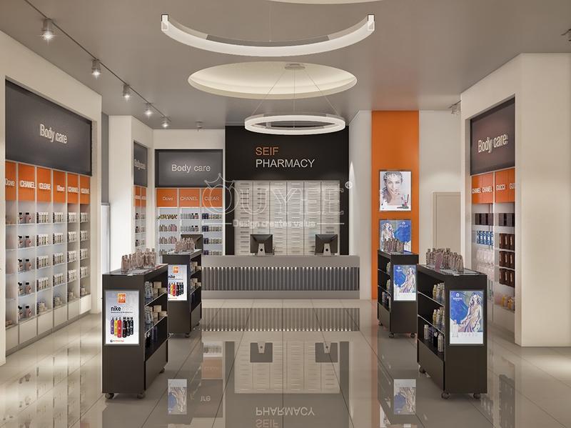 Retail Pharmacy Medical Shop Interior Design OY-PSD026