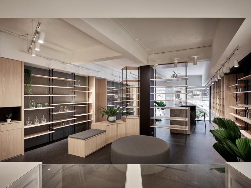 Retail Pharmacy Shelving Drugstore Design OY-PSD027