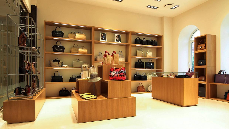 Wooden Display Shelf Design Furniture Bag Display OY-SSD008-4