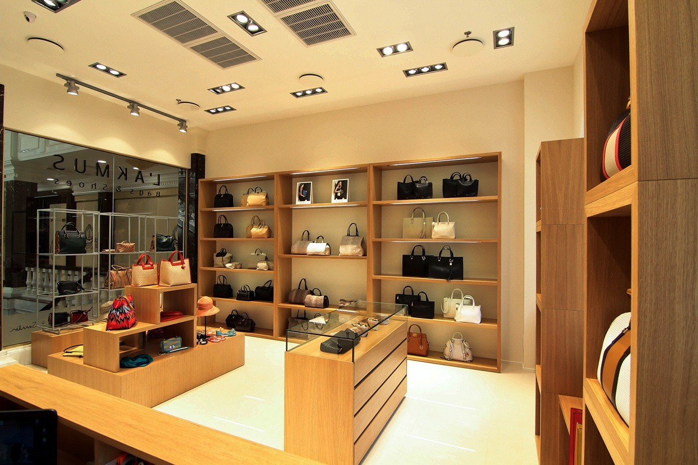 Wooden Display Shelf Design Furniture Bag Display OY-SSD008-5
