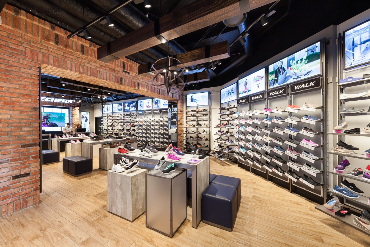 one-stop shoes display racks high-end manufacturer for chain shop-1