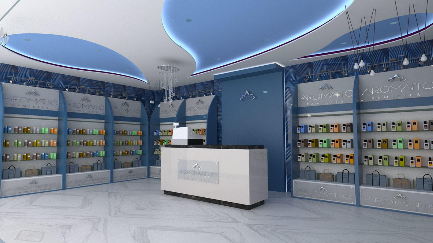 kiosk furniture perfume rack stand OUYEE Brand