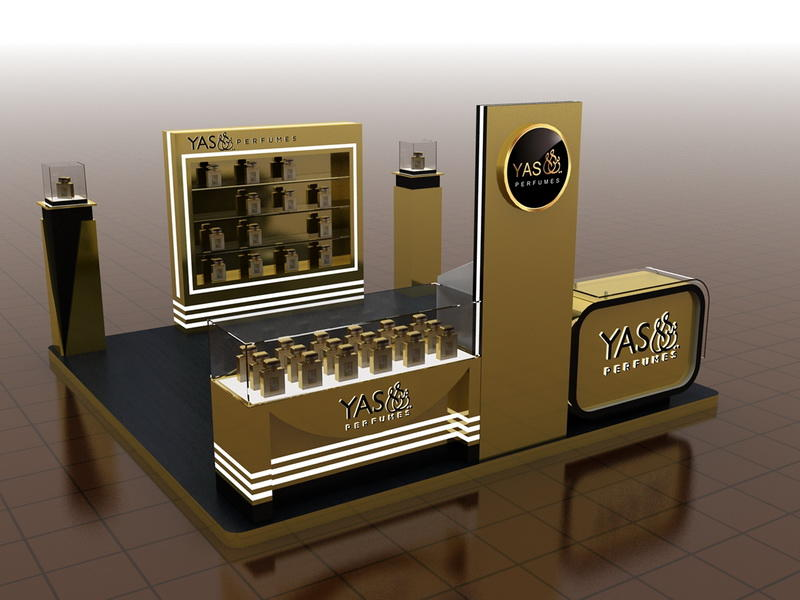 Perfume Display Shopping Mall Kiosk  OY-PFD028
