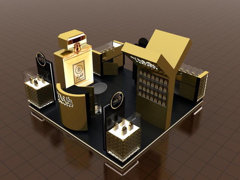 Perfume Shop Display Kiosk Design OY-PFD030