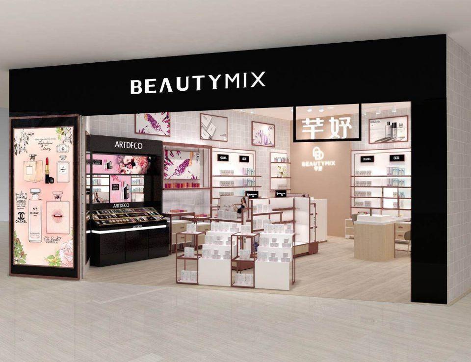 shop shelf mall OUYEE Brand perfume stand