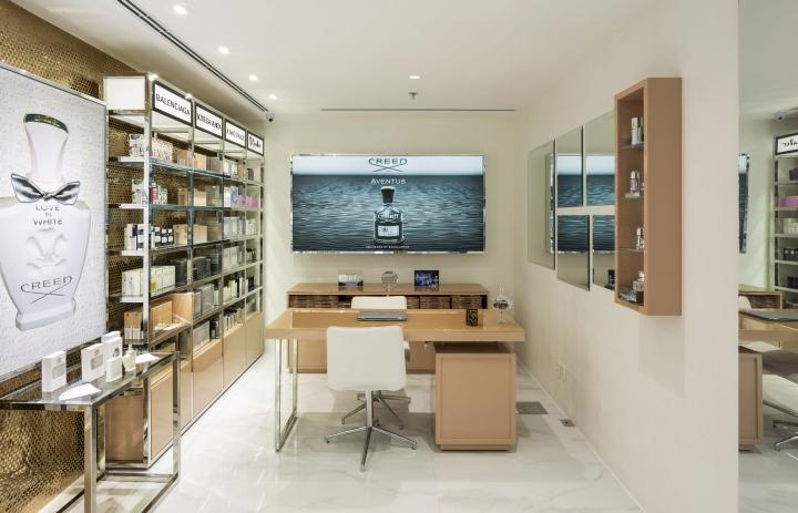 perfume display showcase custom for store OUYEE-4