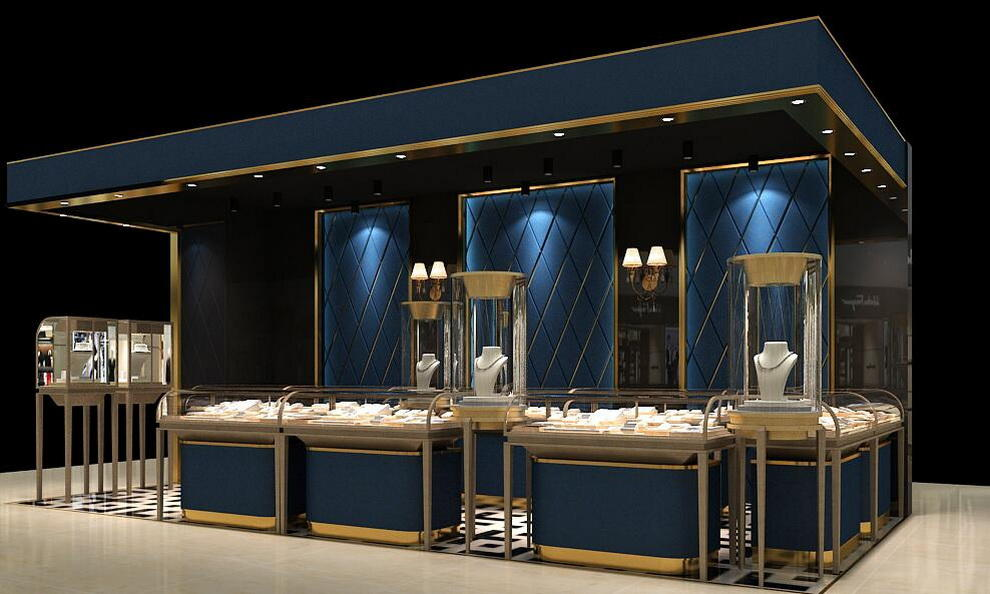 wooden jewellery OUYEE Brand jewellery shop showcase design factory