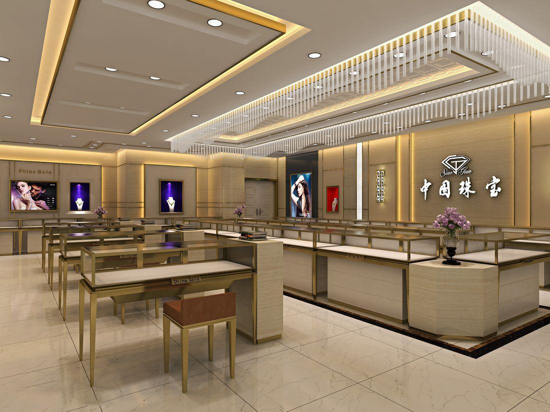 case counter tower floor jewellery shop design OUYEE
