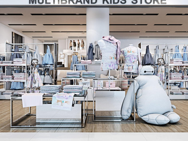 Children Clothing Store Baby Clothes Shop Design Display Stand OY-GSD007