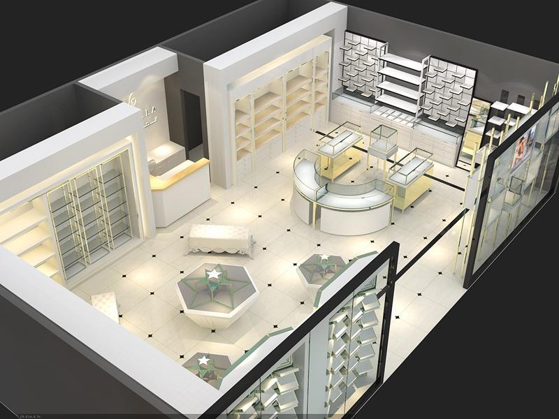 Latest Jewellery Showroom Design OY-JWSD022