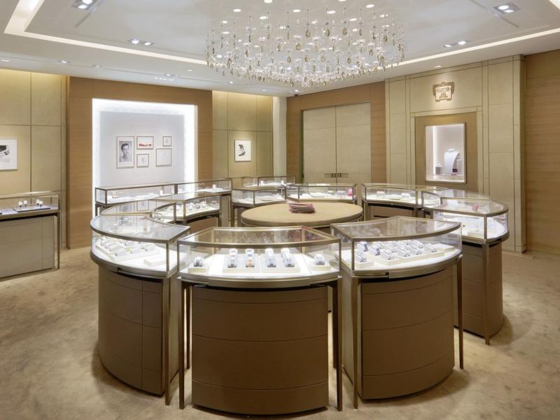 Gold Display Cabinet OY-JWSD025