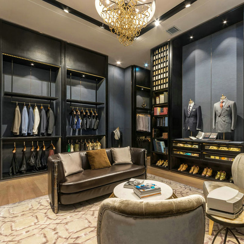 high-end garment shop interior design ideas cheapest price for show room OUYEE-8