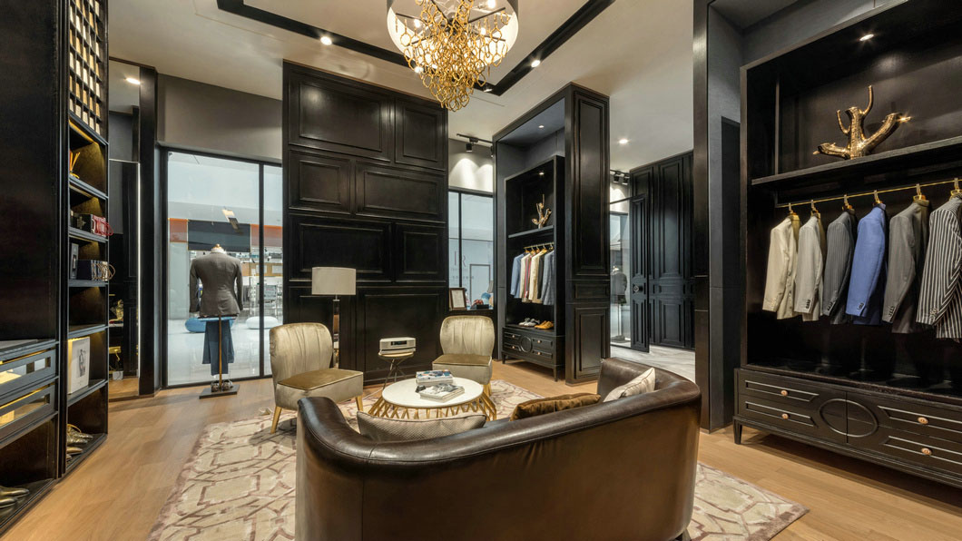 high-end garment shop interior design ideas cheapest price for show room OUYEE-4