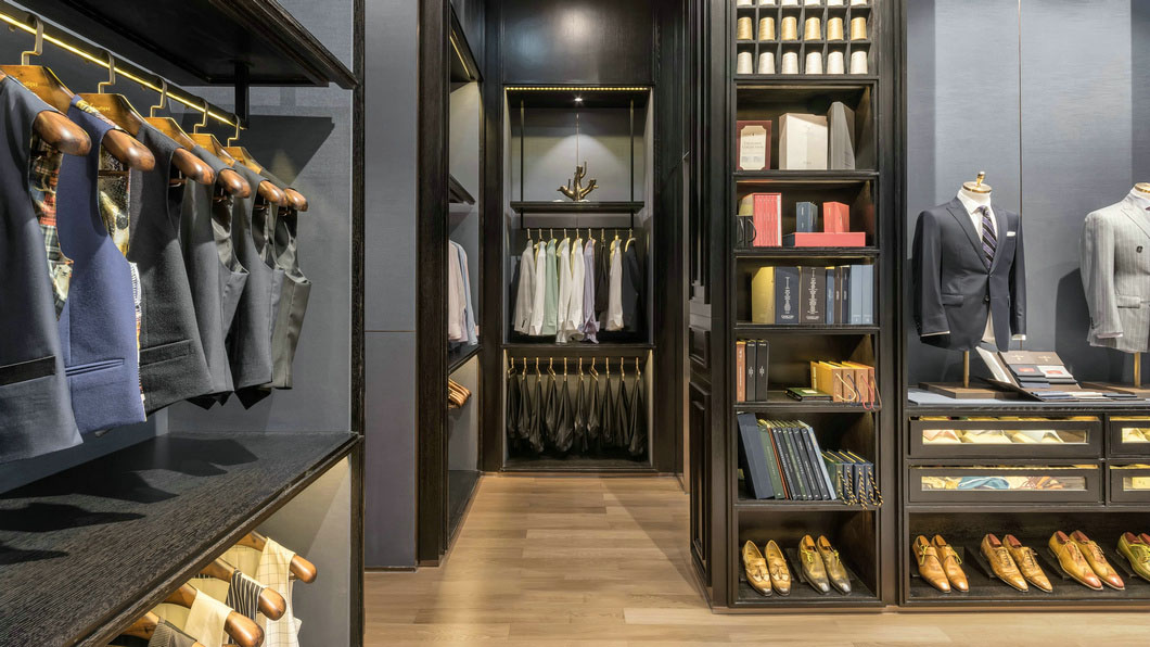 high-end garment shop interior design ideas cheapest price for show room OUYEE-5