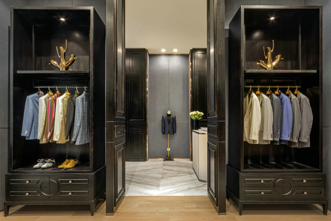 high-end garment shop interior design ideas cheapest price for show room OUYEE-7