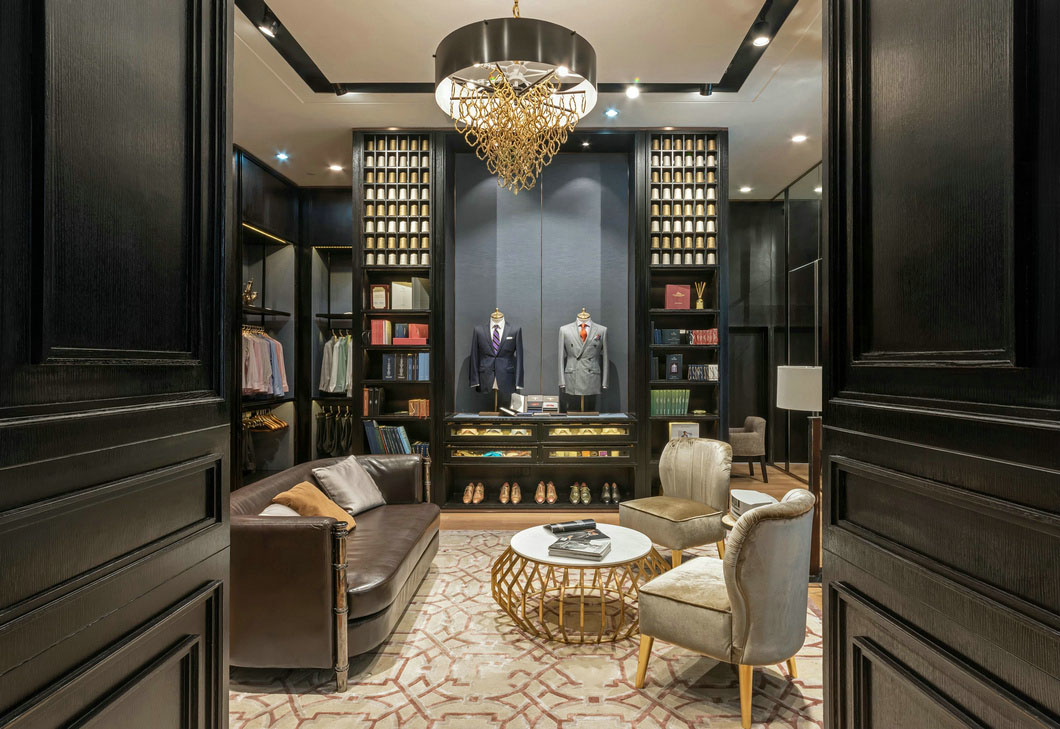 high-end garment shop interior design ideas cheapest price for show room OUYEE-6