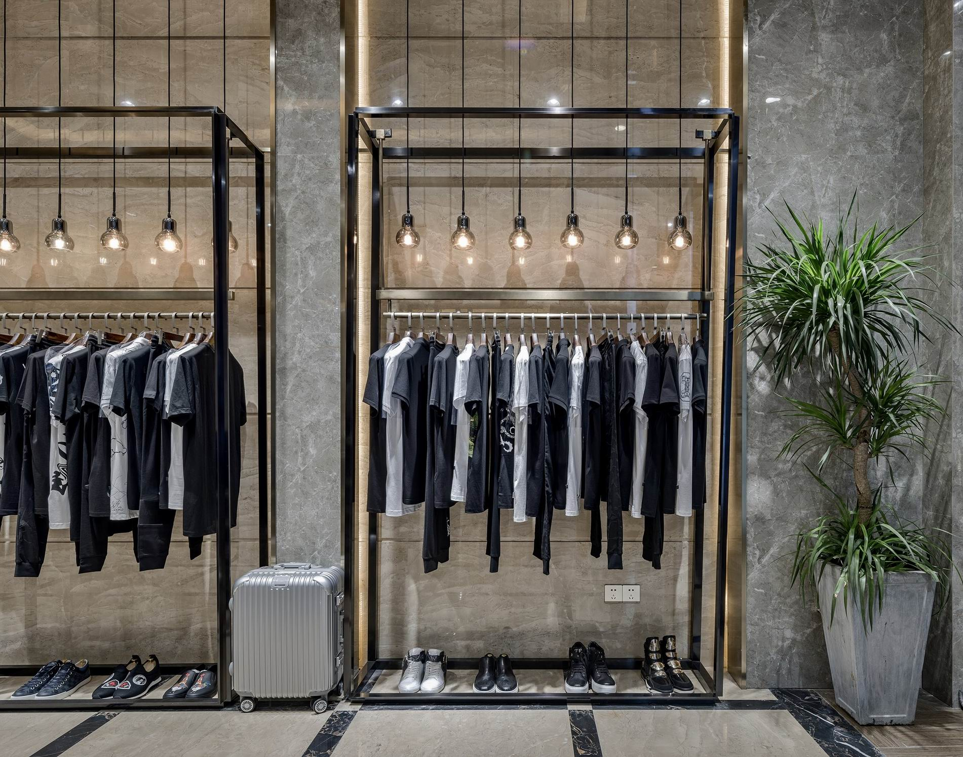 OUYEE free delivery tailoring shop interior design at discount underwear display-7
