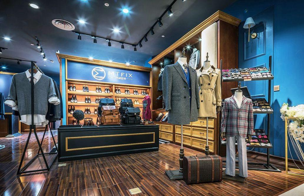 garment clothing shelves store highend OUYEE company