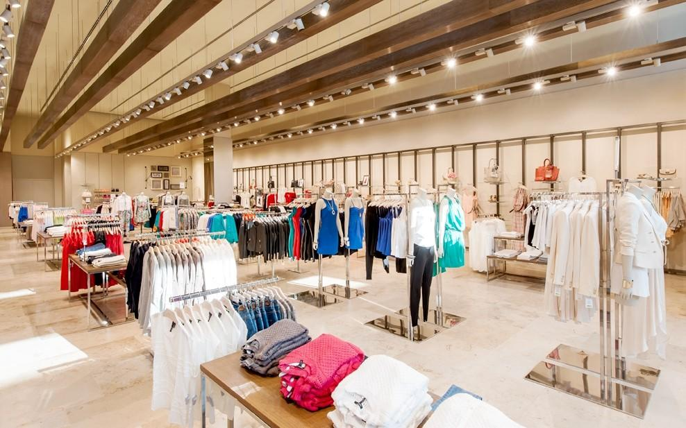 OUYEE eye-catching garments shop interior design universal for decoration