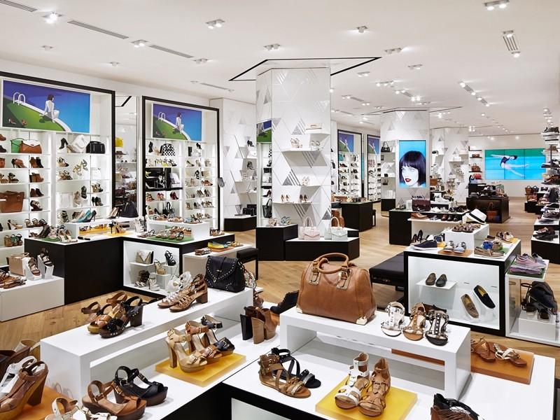 OUYEE chic shoe shop interior design popular for chain shop-7