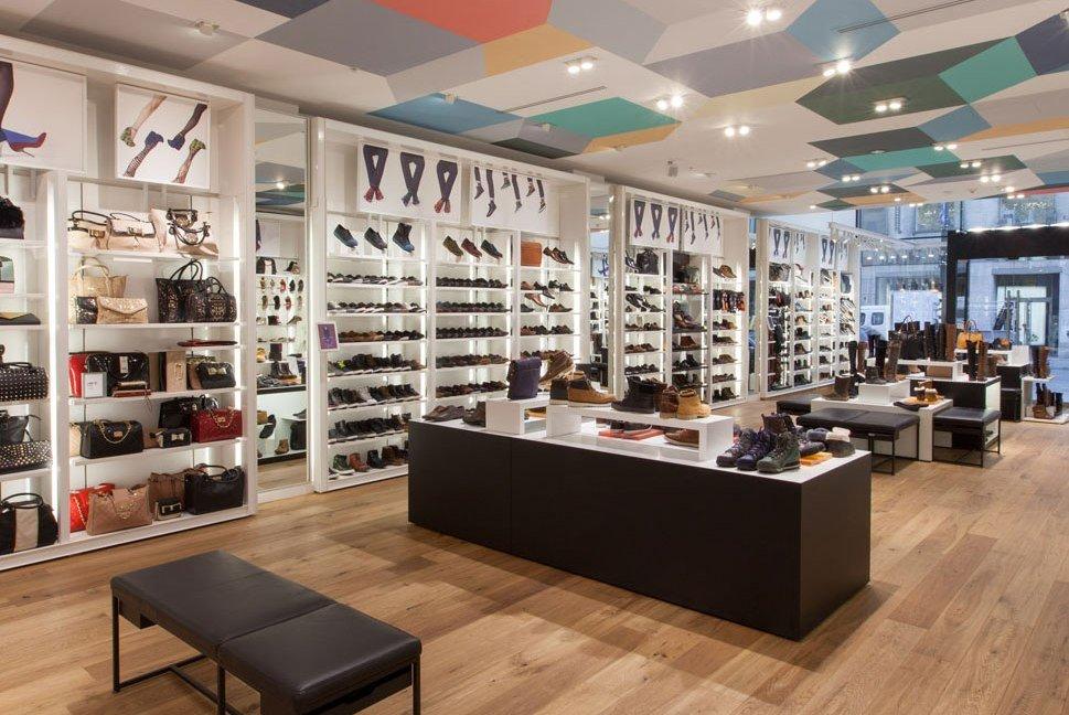 OUYEE chic shoe shop interior design popular for chain shop-4
