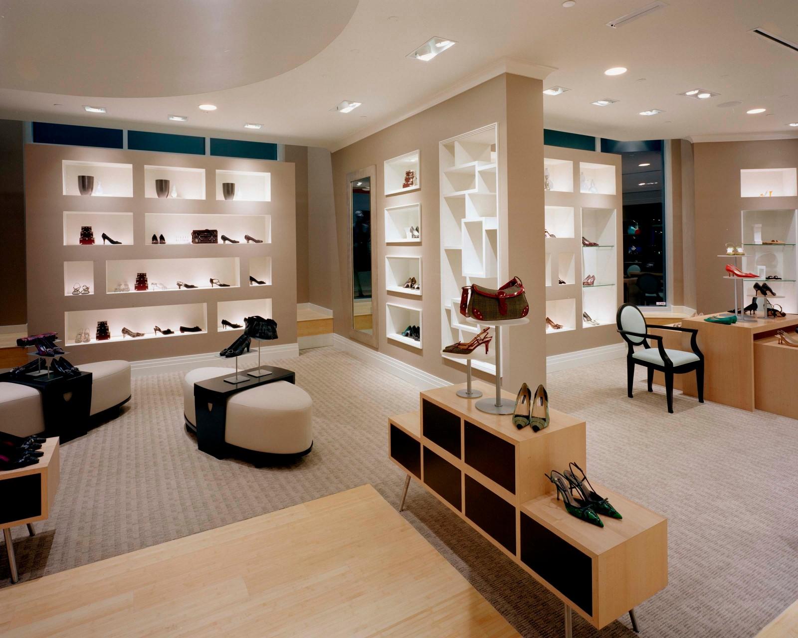 OUYEE chic shoe shop interior design popular for chain shop-5