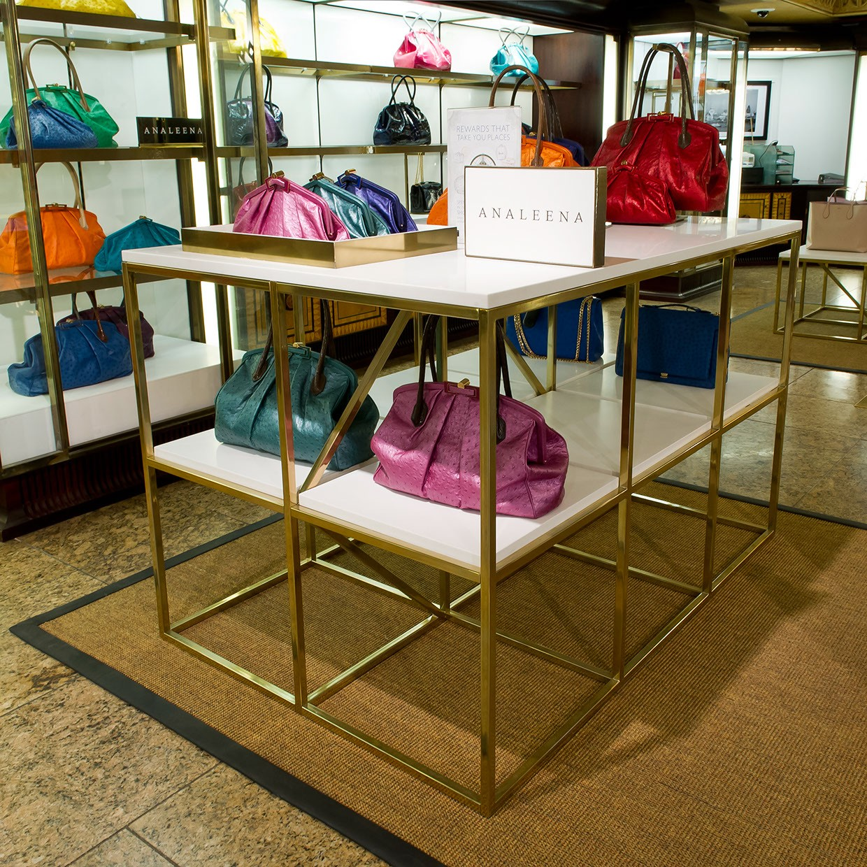 OUYEE chic shoe shop interior design eye-catching for business-6