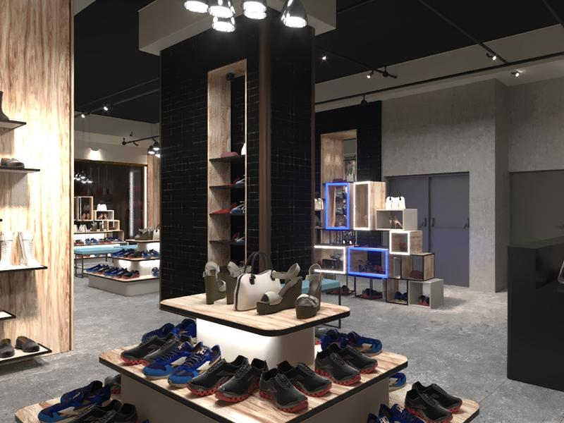 Shop Interior Design Shoe Stand Design OY-SSD023