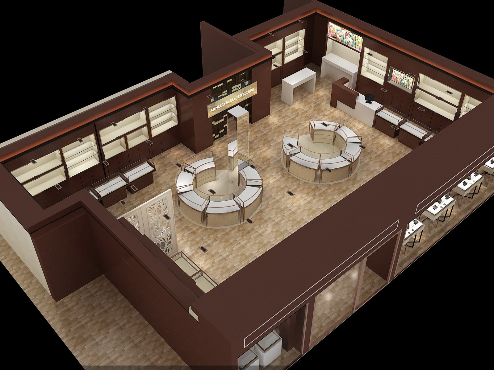 OUYEE chic style latest jewellery showroom design OEM for shop-4