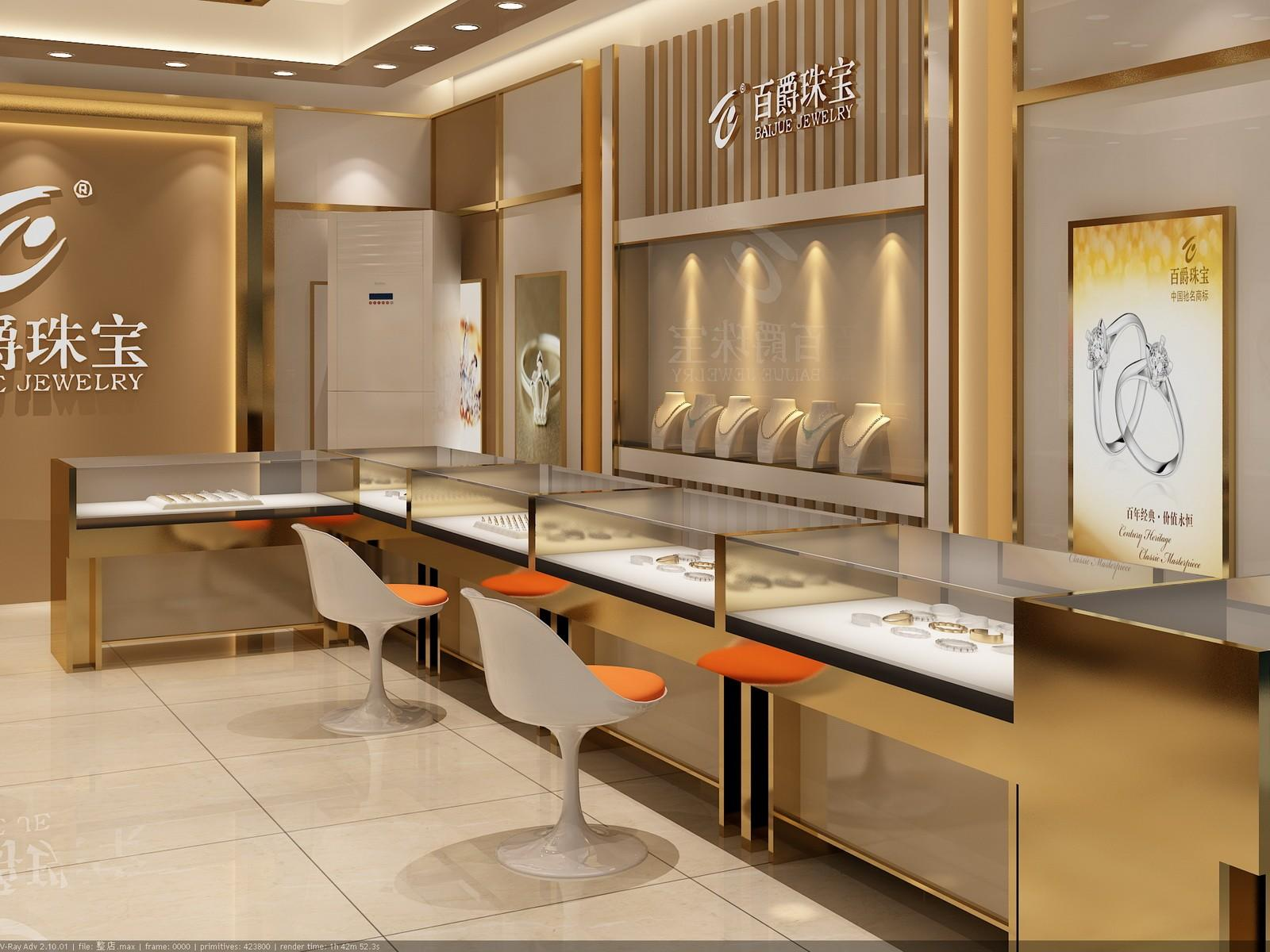 showcase jewellery shop showcase design interior OUYEE company