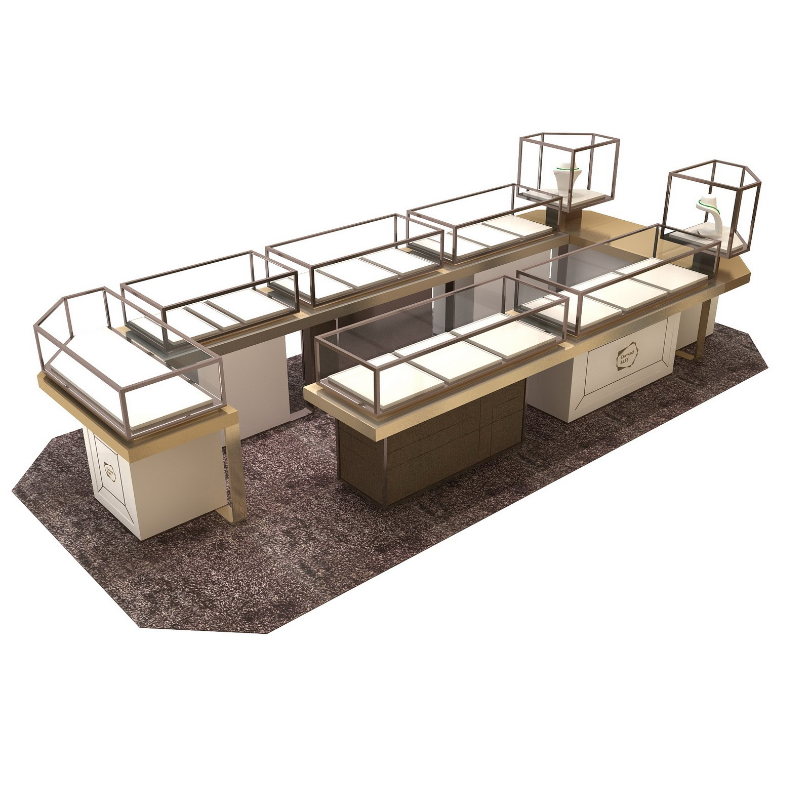 retail jewellery display cabinets commercial for store OUYEE-4