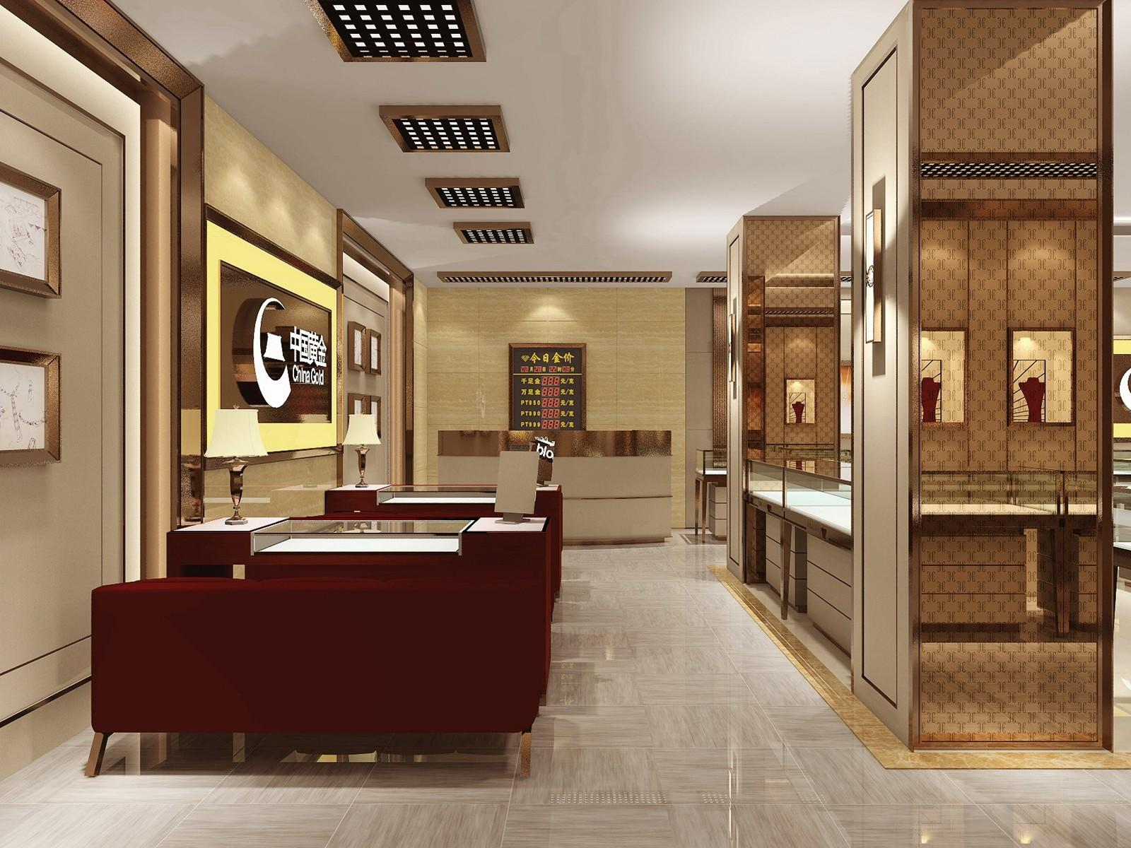 latest jewellery shop showcase design low-cost for wholesale OUYEE