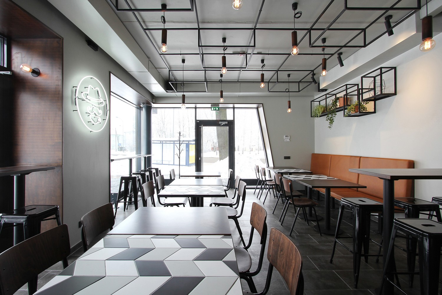 OUYEE chic coffee cafe interior design modern for club-4
