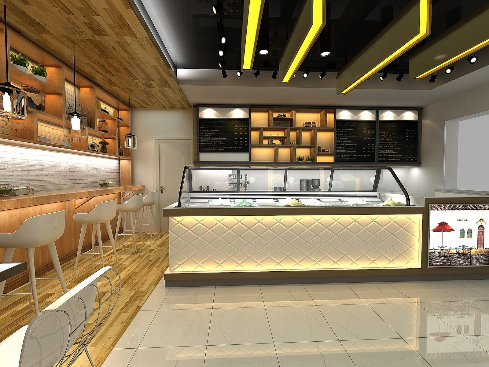 OUYEE eye-catching small cafe design cheapest price for furniture