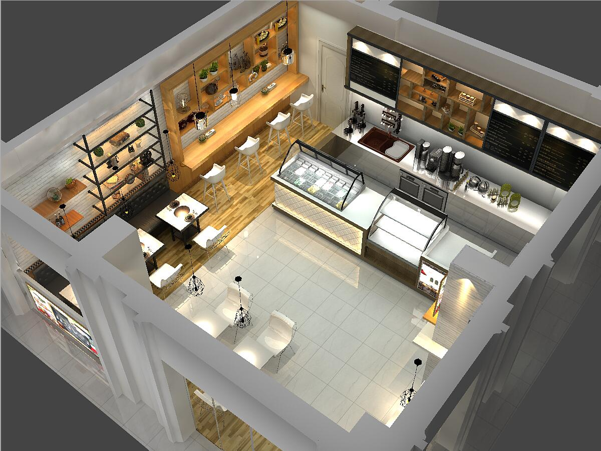 OUYEE eye-catching small cafe design cheapest price for furniture-4
