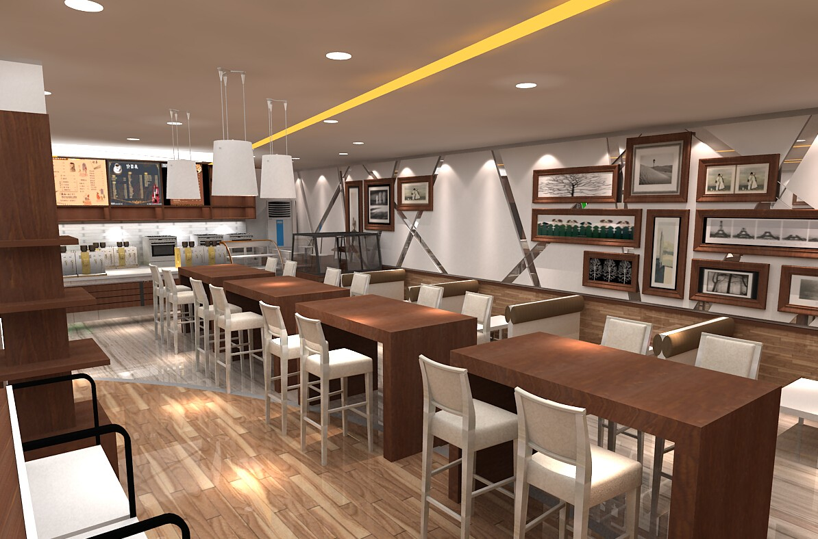 Eye Catching Coffee Bar Design Modern Factory Price For Restaurant Ouyee