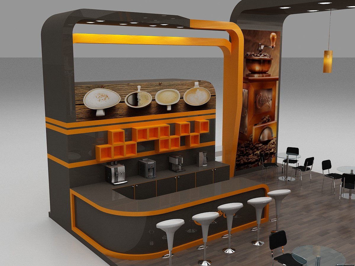 Cafe Interior Design Coffee Station Furniture Oy Csd015 Ouyee Display