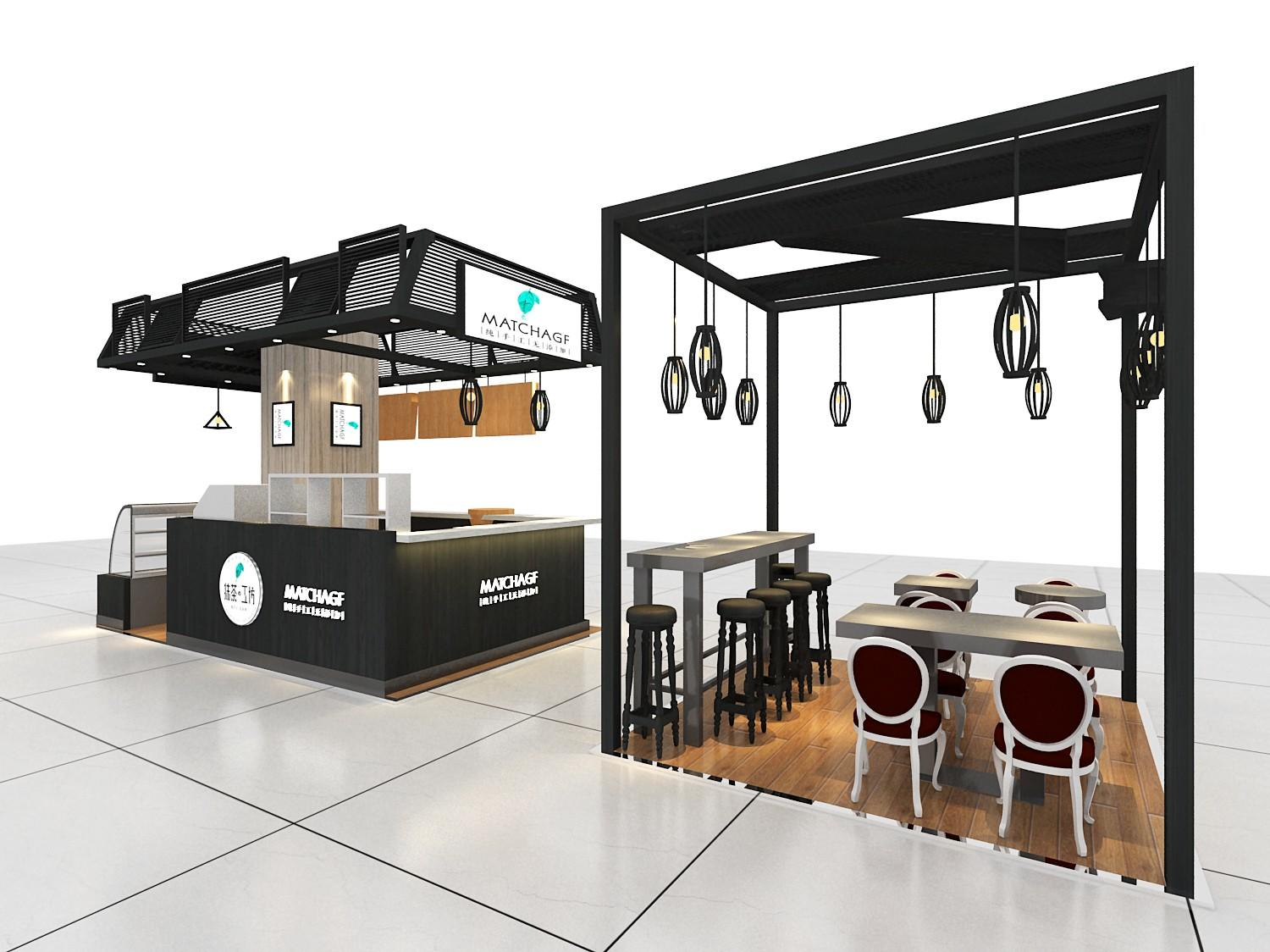 kiosk coffee shop bar coffee OUYEE Brand coffee shop design